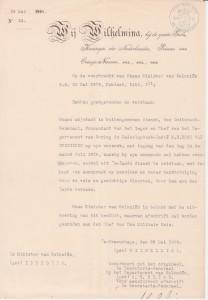 1909 eervol ontslag als Commandant