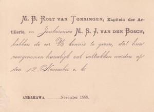 trouwkaart 1888